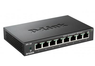 D-Link switch neupravljivi,DES-108/E (metalno kućište)
