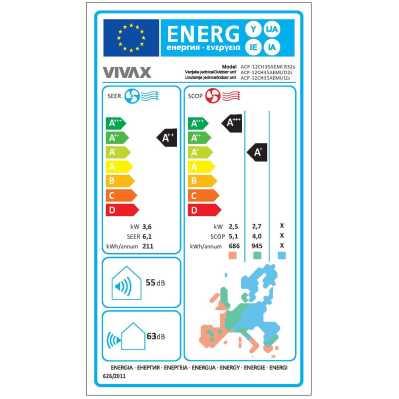 Vivax ACP-12CH35AEVI klima uređaj, Wi-Fi, inverter