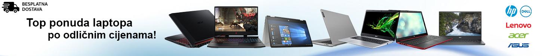 Svi laptopi dostupni u našoj ponudi. HP laptop, Dell laptop, Lenovo laptop, Acer laptop, Asus laptop.